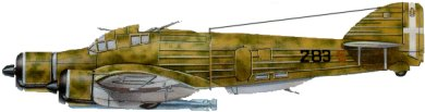 Profil couleur du Savoia-Marchetti SM.79 Sparviero