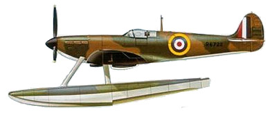 Profil couleur du Folland Spitfire Floatplane