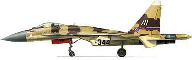 Profil couleur du Sukhoï Su-37 Terminator 'Super Flanker'