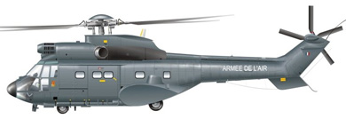 Profil couleur du Aérospatiale AS.332 (EC 225) Super Puma