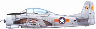 Profil couleur du North American T-28 Trojan