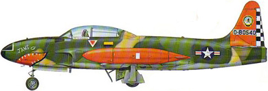 Profil couleur du Lockheed T-33 T-Bird