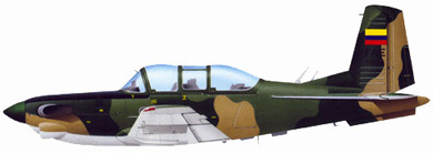 Profil couleur du Beechcraft T-34 Mentor / Turbo Mentor