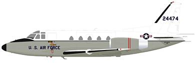 Profil couleur du North American T-39 / CT-39 Sabreliner