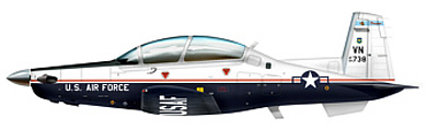 Profil couleur du Beechcraft T-6 Texan II
