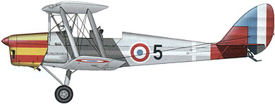 Profil couleur du De Havilland D.H.82 Tiger Moth