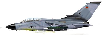 Profil couleur du Panavia Tornado ECR