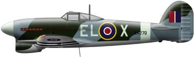 Profil couleur du Hawker  Typhoon