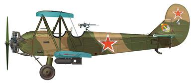Profil couleur du Polikarpov U-2 / Po-2