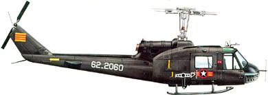 Profil couleur du Bell UH-1 Iroquois 'Huey'
