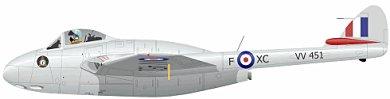Profil couleur du De Havilland D.H.100 Vampire