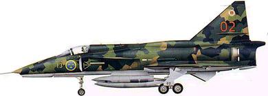 Profil couleur du Saab J37 Viggen
