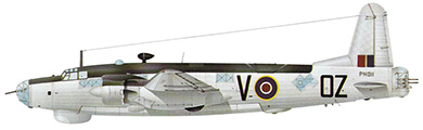 Profil couleur du Vickers  Warwick