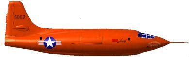 Profil couleur du Bell X-1
