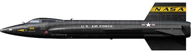 Profil couleur du North American X-15