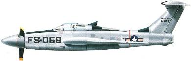 Profil couleur du Republic XF-84H Thunderscreech