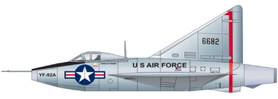 Profil couleur du Convair XF-92