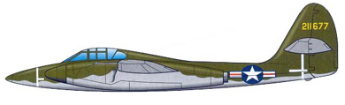 Profil couleur du McDonnell XP-67 Bat