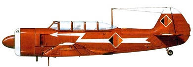 Profil couleur du Yakovlev Yak-11  'Moose'