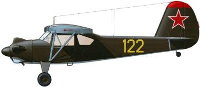 Profil couleur du Yakovlev Yak-12 Creek