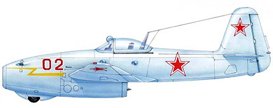 Profil couleur du Yakovlev Yak-17  'Feather'