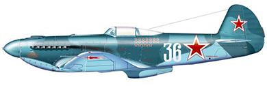 Profil couleur du Yakovlev Yak-9 'Frank'