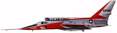 Profil couleur du North American YF-107 Ultra Sabre