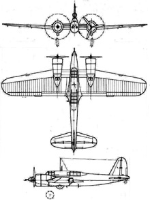Plan 3 vues du Curtiss A-18 Shrike