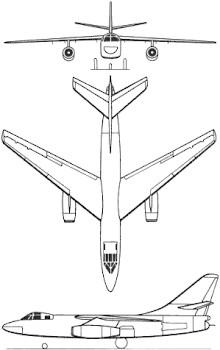 Plan 3 vues du Douglas A-3 Skywarrior