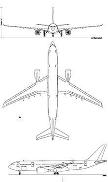 Plan 3 vues du Airbus Military A330 MRTT