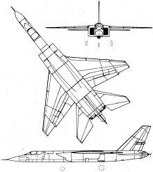 Plan 3 vues du North American A-5 Vigilant