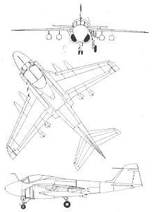 Plan 3 vues du Grumman A-6 Intruder