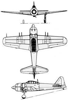 Plan 3 vues du Mitsubishi A6M Rei-sen 'Zero'