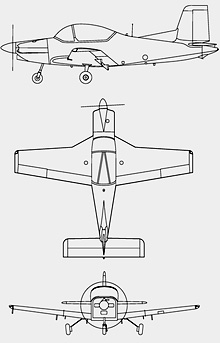 Plan 3 vues du PAC CT-4 Airtrainer