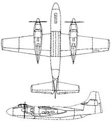 Plan 3 vues du North American AJ-1/AJ-2 Savage