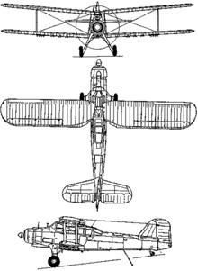 Plan 3 vues du Fairey  Albacore