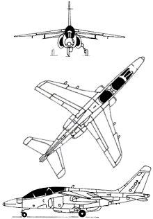 Plan 3 vues du Dassault-Breguet/Dornier Alpha Jet