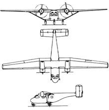 Plan 3 vues du Antonov An-14 Pchelka 'Clod'