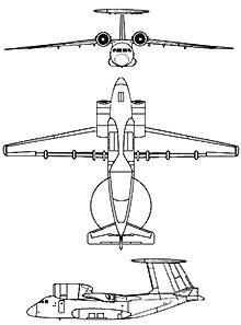Plan 3 vues du Antonov An-71 'Madcap'