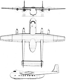 Plan 3 vues du Armstrong Whitworth AW.660 Argosy