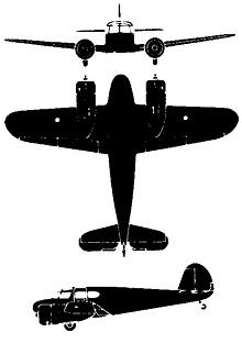 Plan 3 vues du Cessna AT-17/UC-78 Crane/Bobcat