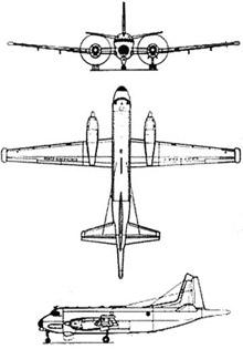 Plan 3 vues du Dassault-Breguet ATL-2 Atlantique