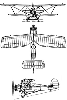 Plan 3 vues du Armstrong Whitworth Atlas