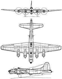 Plan 3 vues du Boeing B-17 Flying Fortress