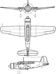 Plan 3 vues du Saab B17