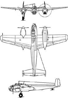 Plan 3 vues du Saab B18