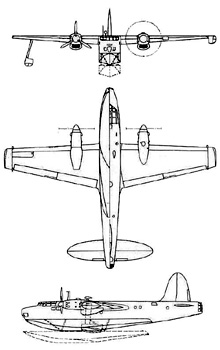 Plan 3 vues du Blackburn B-20 Nutcracker