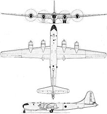 Plan 3 vues du Boeing B-29 Superfortress