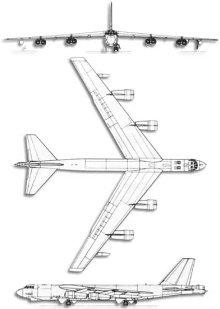 Plan 3 vues du Boeing B-52 Stratofortress