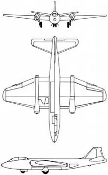 Plan 3 vues du Martin B-57